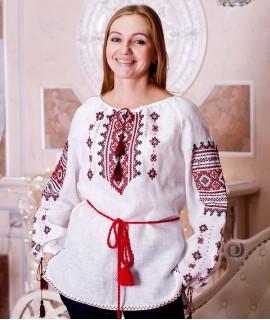 Женская вышиванка  Традиция  (лен, ручная вышивка)