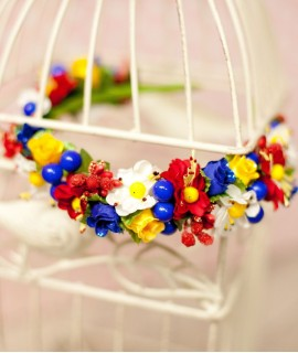 Обруч ручної роботи Польові квіти
