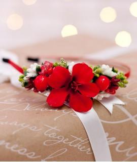 Обруч из цветов Подарок
