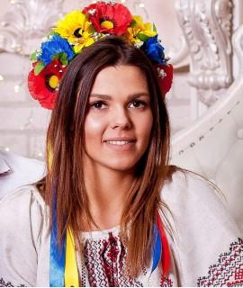 Український віночок Польові квіти (великий)